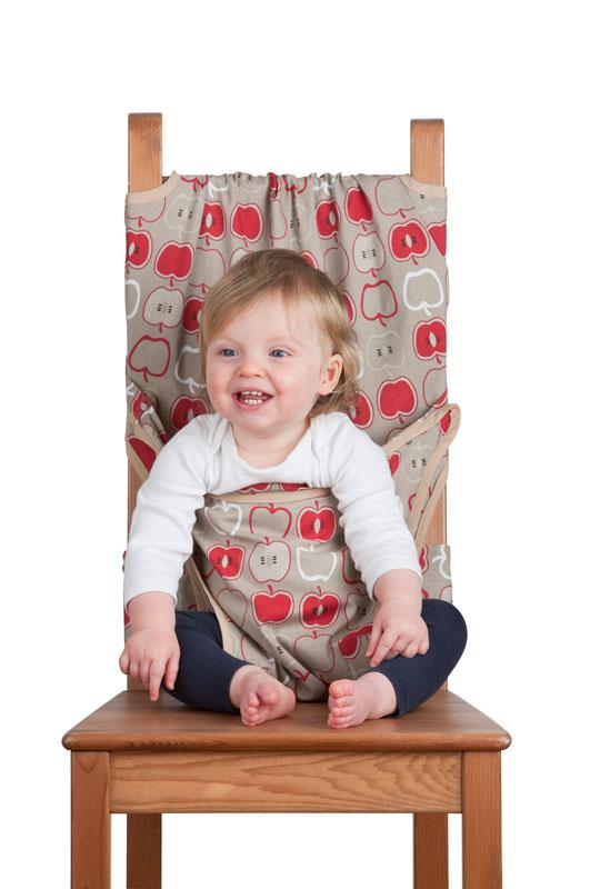 Дорожный детский стульчик «Totseat», цвет: серый с яблочками  как переделать тумбочку своими руками