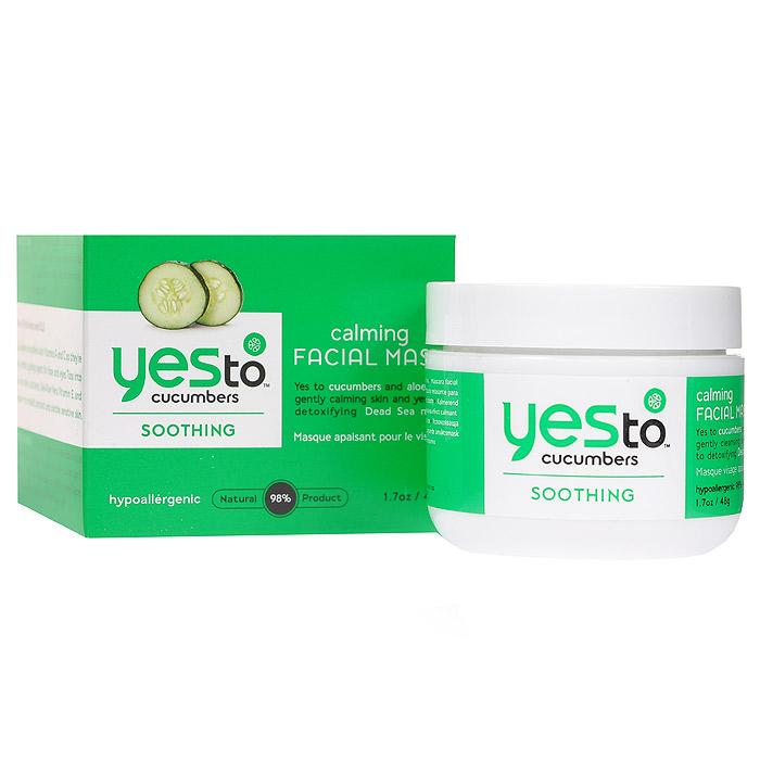 Yes to Маска для лица Cucumbers, успокаивающая, 45 г3315000Маска Yes to на основе огурца великолепно увлажняет и наполняет силой уставшую, чувствительную кожу. Обладает очищающим и поросуживающим действием. Суперувлажняющая, богатая питательными веществами маска сделает вашу кожу мягкой, шелковистой и упругой. Применение : нанесите тонкий слой маски на очищенную кожу лица, избегая контура глаз и губ. Время экспозиции 5 минут, после этого удалите маску влажной салфеткой и ополосните лицо водой.