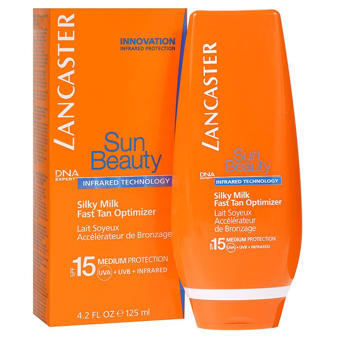 Lancaster Молочко легкое Sun Beauty, для тела, 125 мл40054157200Легкое молочко Lancaster Sun Beauty с защитой от UVA- и UVB- лучей с помощью фотостабильных высокоэффективных UVA- и UVB-фильтров. Эксклюзивная инфракрасная защита благодаря уникальной системе двойного действия: Отражает и нейтрализует IR-лучи благодаря 3 физическим фильтрам (рубиновой пудре, диоксиду титана, перламутровому пигменту). Нейтрализует свободные радикалы, образованные UV-лучами с помощью эксклюзивного антиоксидантного комплекса и IR-лучами с помощью мощных антиоксидантов(витамина Е и производного витамина С).
