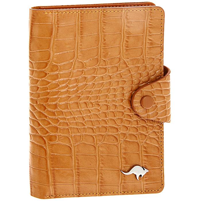 Обложка для автодокументов Cangurione, цвет: оранжевый. 3305-025 KR/Orange3305-025 KR/OrangeОбложка для автодокументов Cangurione выполнена из натуральной кожи оранжевого цвета с декоративным тиснением под крокодила. На внутреннем развороте - 4 кармашка для пластиковых и кредитных карт, потайное отделение, окошко для фотографии и два кармашка для документов. Обложка закрывается при помощи хлястика на кнопку. Обложка не только поможет сохранить внешний вид ваших документов и защитит их от повреждений, но и станет стильным аксессуаром, который подчеркнет ваш неповторимый стиль. Обложка упакована в коробку из плотного картона с логотипом фирмы.