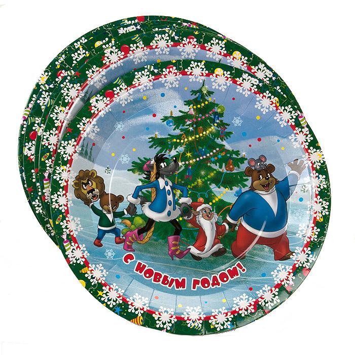 Набор одноразовых тарелок Ну, погоди! Новый год, 6 шт18779Набор одноразовых тарелок Ну, погоди! Новый год сделает ваш стол ярким и необычным. Тарелки оформлены яркими изображениями персонажей любимого советского мультфильма. В набор входят шесть тарелок. Эти праздничные аксессуары поднимут настроение вам и вашим гостям! Характеристики: Диаметр тарелок: 23 см.