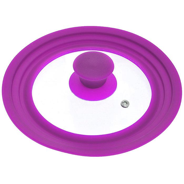Крышка универсальная Borner, цвет: сиреневый. Диаметр 16 см, 18 см, 20 см, цвет: сиреневый5000132Универсальная крышка Borner, выполненная из силикона и стекла, позволит вам сэкономить не только время, но и пространство на кухне: одну крышку можно использовать на посуду разных размеров от 16 см до 20 см в диаметре. Крышка Borner сделана из термостойкого стекла, что позволяет контролировать процесс приготовления без потери тепла. Ободок из силикона выдерживает температуру до 200°С и при этом не выделяет никаких вредных веществ, легко моется и не впитывает запахи, предотвращает появление сколов на стекле.