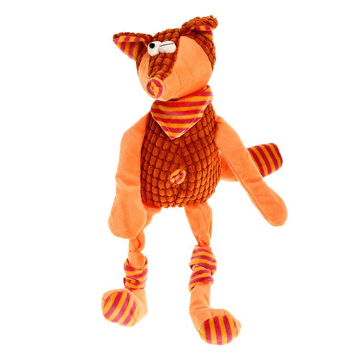 Мягкая игрушка Jackie Chinoco Оранжевая лиса, 45 смJC-13007-FОригинальная дизайнерская игрушка Jackie Chinoco Оранжевая лиса выполнена в виде лисы в шейном платке и гетрах. Игрушка изготовлена из нетоксичного текстильного материала с коротким ворсом, благодаря чему ее будет приятно держать в руках. Такая игрушка порадует вас оригинальностью идеи и высоким качеством исполнения и станет прекрасным подарком для детей и взрослых.
