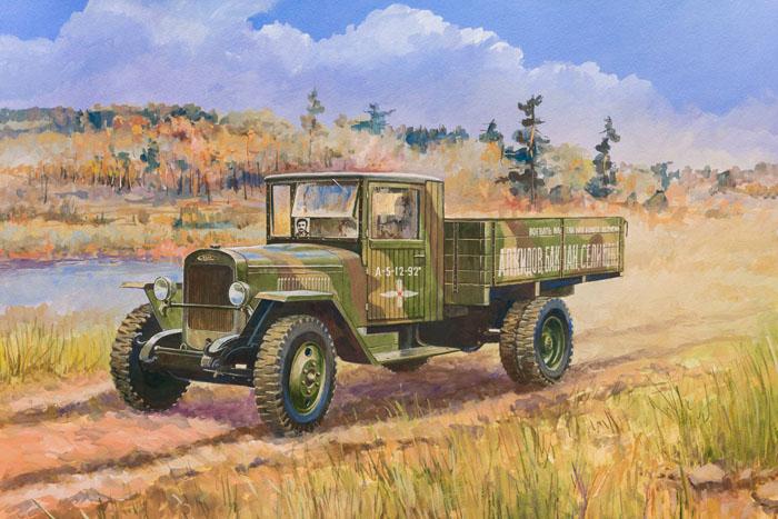Сборная модель Советский грузовой автомобиль ЗиС-5В3529Сборная модель Советский грузовой автомобиль ЗиС-5В привлечет внимание не только ребенка, но и взрослого и позволит своими руками создать уменьшенную копию известного грузовика. Грузовик ЗиС-5В, выпущенный в июне 1942 года, стал настоящей рабочей лошадкой Красной Армии. Он отлично работал в любое время года, при любых погодных и дорожных условиях, был неприхотлив к качеству бензина и легок в обслуживании. При мощности двигателя 73 л. с. он мог тянуть до 3,5 т груза. На базе этого автомобиля было создано много спецмашин: санитарные, ремонтные, зенитные и другие.