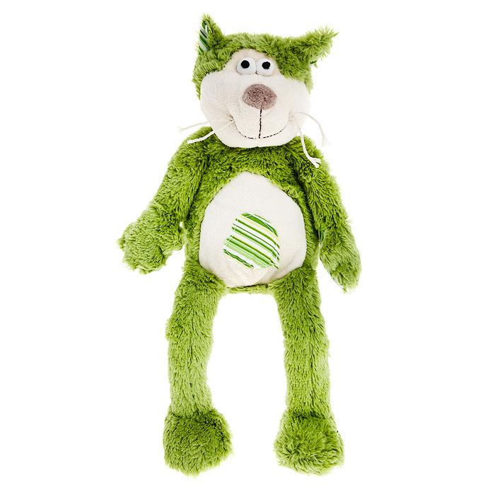 Мягкая игрушка Jackie Chinoco Зеленый кот, 20 смJC-12918-AОригинальная дизайнерская игрушка Jackie Chinoco Зеленый кот выполнена в виде котика с полосатым сердечком на животе. Игрушка изготовлена из нетоксичного текстильного материала с ворсом средней длины, благодаря чему ее будет приятно держать в руках. Такая игрушка порадует вас оригинальностью идеи и высоким качеством исполнения и станет прекрасным подарком для детей и взрослых.