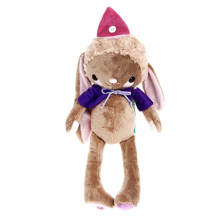 Мягкая игрушка Magic Bear Toys Кролик Циркус мальчик, 30 смSAV1285-PKОригинальная дизайнерская игрушка Magic Bear Toys Кролик Циркус мальчик выполнена в виде коричневого кролика в розовом колпаке. Игрушка изготовлена из нетоксичного текстильного материала с коротким ворсом, благодаря чему ее будет приятно держать в руках. Такая игрушка порадует вас оригинальностью идеи и высоким качеством исполнения и станет прекрасным подарком для детей и взрослых. Характеристики: Высота: 30 см. Материал: текстиль. Материал наполнителя: силиконизированное волокно, пластиковые гранулы. Производитель: Китай. Артикул: SAV1285-PK.
