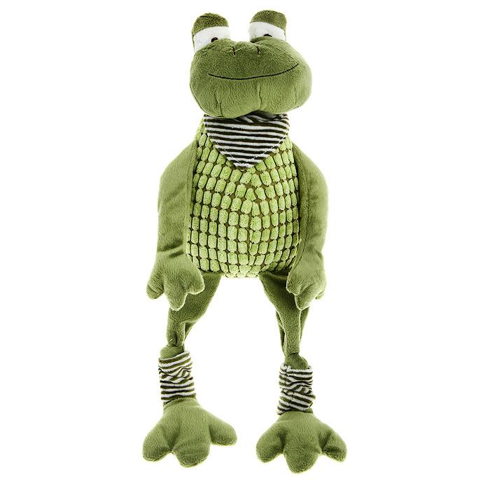 Мягкая игрушка Jackie Chinoco Зеленая лягушка, 40 смJC-13007-EОригинальная дизайнерская игрушка Jackie Chinoco Зеленая лягушка выполнена в виде лягушки в шейном платке и гетрах. Игрушка изготовлена из нетоксичного текстильного материала с коротким ворсом, благодаря чему ее будет приятно держать в руках. Такая игрушка порадует вас оригинальностью идеи и высоким качеством исполнения и станет прекрасным подарком для детей и взрослых.
