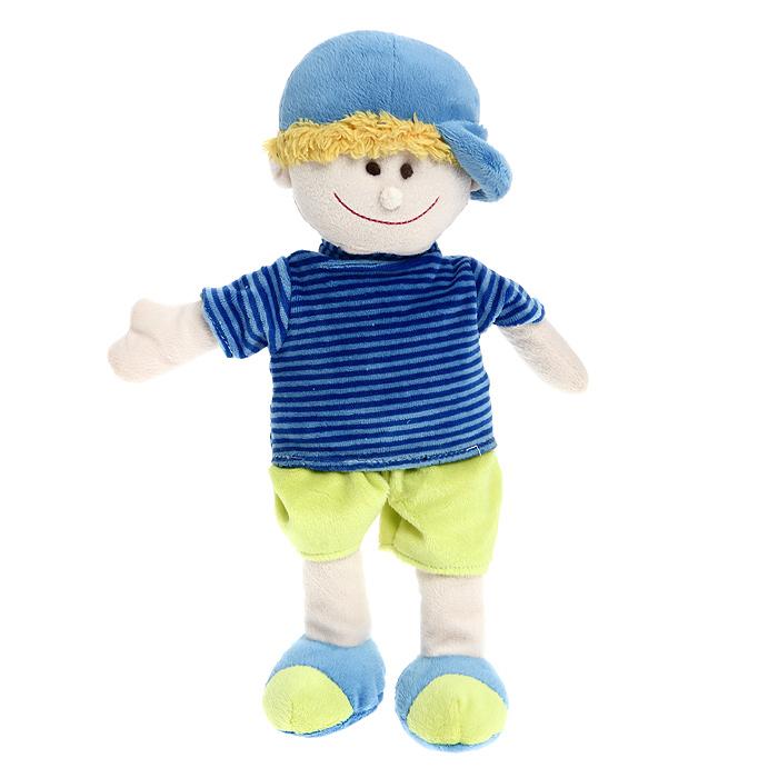 Magic Bear Toys Мягкая кукла МальчикJC-05932-AОригинальная дизайнерская игрушка Magic Bear Toys Мальчик выполнена в виде куклы в кепке и полосатой футболке. Игрушка изготовлена из нетоксичного текстильного материала с коротким ворсом, благодаря чему ее будет приятно держать в руках. Такая игрушка порадует вас оригинальностью идеи и высоким качеством исполнения и станет прекрасным подарком для детей и взрослых.