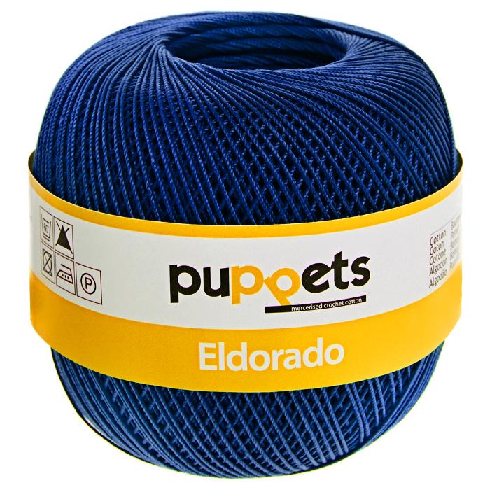 Пряжа для вязания крючком Puppets Eldorado, цвет: васильковый (07133), 265 м, 50 г4574010-07133Пряжа для вязания крючком Eldorado (Эльдорадо) нить кроше - это качественная нить с улучшенным внешним видом и расширенным ассортиментом для создания одежды и аксессуаров, а также изделий, которые украсят ваш дом. Пряжа для вязания Eldorado состоит из мерсеризированного хлопка. Мерсеризация - обработка пряжи крепким раствором щелочи под напряжением. Этот метод был разработан в первой половине XIX века английским химиком Джоном Мерсером. После такой обработки хлопковые волокна приобретают новые свойства: шелковистый блеск, мягкость, дополнительную прочность, на 25% повышается допустимое растягивающее усилие. Натуральный хлопок не имеет блеска. После мерсеризации его удается окрасить в любые яркие тона. Пряжа из хлопка является экологически чистой, так как производится из натурального материала.