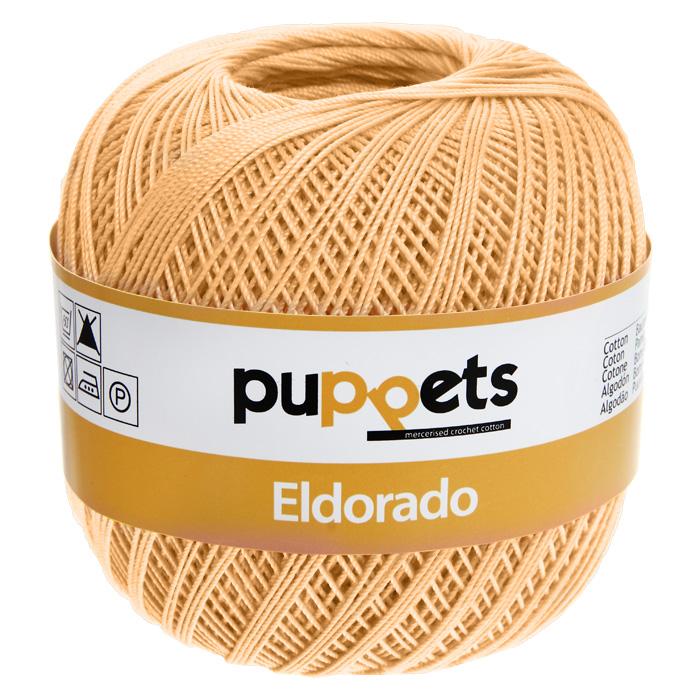 Пряжа для вязания крючком Puppets Eldorado, цвет: желтый (04237), 265 м, 50 г4574010-04237Пряжа для вязания крючком Eldorado (Эльдорадо) нить кроше - это качественная нить с улучшенным внешним видом и расширенным ассортиментом для создания одежды и аксессуаров, а также изделий, которые украсят ваш дом. Пряжа для вязания Eldorado состоит из мерсеризированного хлопка. Мерсеризация - обработка пряжи крепким раствором щелочи под напряжением. Этот метод был разработан в первой половине XIX века английским химиком Джоном Мерсером. После такой обработки хлопковые волокна приобретают новые свойства: шелковистый блеск, мягкость, дополнительную прочность, на 25% повышается допустимое растягивающее усилие. Натуральный хлопок не имеет блеска. После мерсеризации его удается окрасить в любые яркие тона. Пряжа из хлопка является экологически чистой, так как производится из натурального материала.