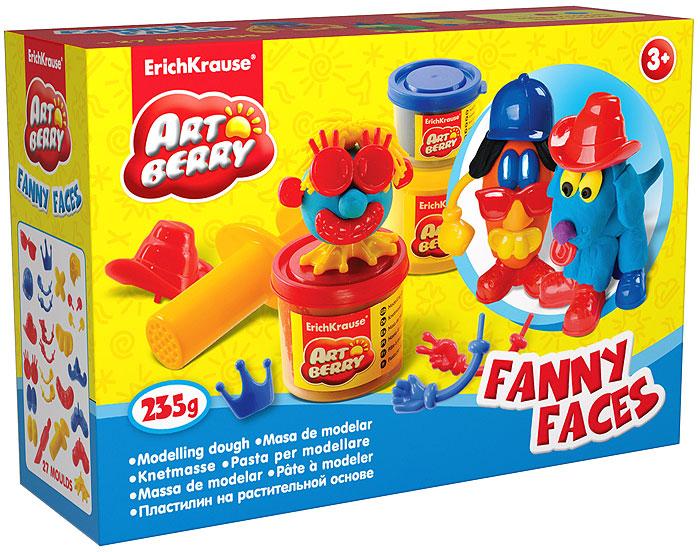 Набор для лепки (на растительной основе) Funny Faces, 3 цвета30384Пластилин на растительной основе Funny Faces - увлекательная игрушка, развивающая у ребенка мелкую моторику рук, воображение и творческое мышление. Пластилин легко разминается, не липнет к рукам и рабочей поверхности, не пачкает одежду. Цвета смешиваются между собой, образуя новые оттенки. Пластилин застывает на открытом воздухе через 24 часа. Набор содержит пластилин 3 цветов (желтого, красного, синего), 2 забавные сборные фигурки, пресс и стек. Пластилин каждого цвета хранится в отдельной пластиковой баночке. С пластилином на растительной основе Funny Faces ваш ребенок будет часами занят игрой.