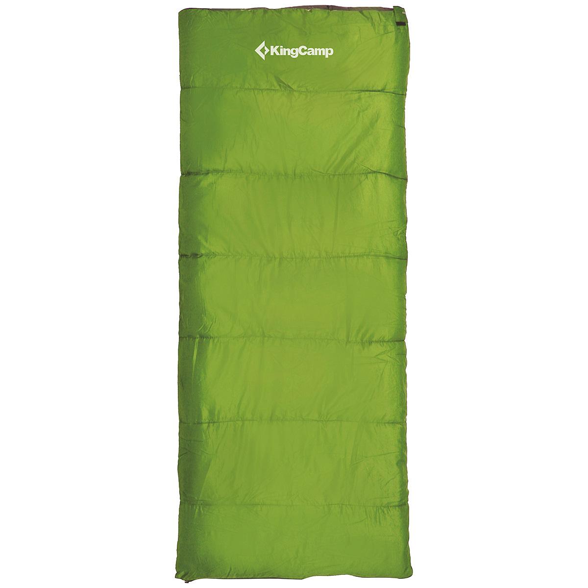 Спальный мешок-одеяло KingCamp OXYGEN, цвет: зеленый. ks3122УТ-000050441Комфортный спальник-одеяло имеет прямоугольную форму и одинаковую ширину как вверху, так и внизу, благодаря чему ноги чувствуют себя более свободно. Молния располагается на боковой стороне, благодаря чему при её расстёгивании спальник превращается в довольно большое одеяло.