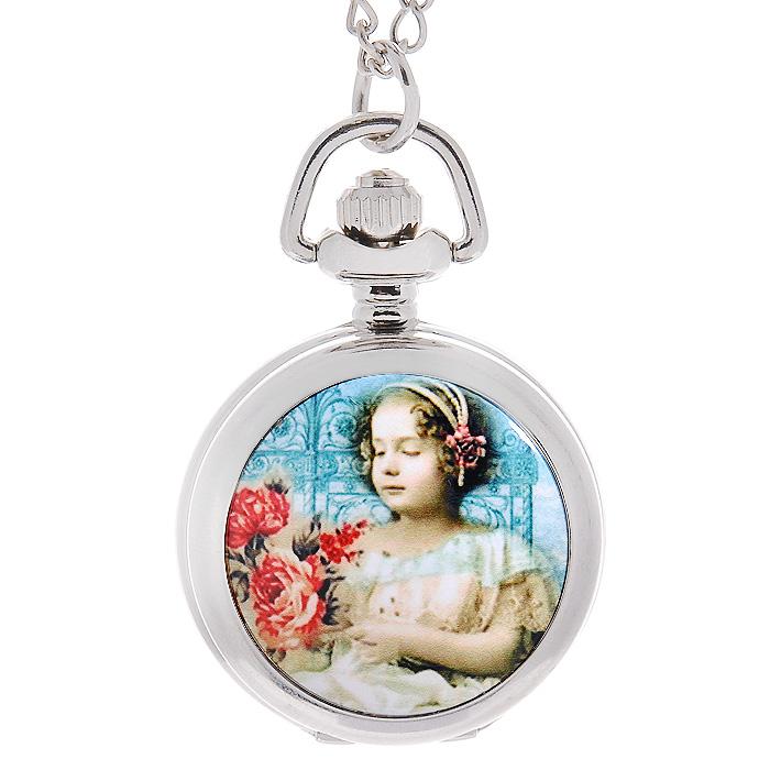 Mitya Veselkov Кулон-часы Портрет девочки с розами. SR-22