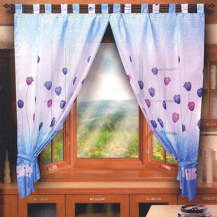Комплект штор для кухни Весенний букет, на петлях, цвет: голубой, высота 180 смБ005Комплект штор Весенний букет, изготовленный из полиэстера голубого цвета, органично впишется в интерьер кухонной комнаты. В набор входит две шторы на петлях. Также для более изящного расположения штор на окне прилагаются подхваты. Все элементы комплекта на петлях и шторной ленте для собирания в сборки. Характеристики: Материал: 100% полиэстер. Цвет: голубой. Длина петли: 9,5 см. Ширина петли: 6,5 см. Размер упаковки: 25 см х 4 см х 35 см. Производитель: Польша. Изготовитель: Россия. Артикул: Б005. В комплект входит: Штора - 2 шт. Размер (ШхВ): 150 см х 180 см. Подхват - 2 шт. УВАЖАЕМЫЕ КЛИЕНТЫ! Обращаем ваше внимание на цвет изделия. Цветовой вариант комплекта, данного в интерьере, служит для визуального восприятия товара. Цветовая гамма данного комплекта представлена на отдельном изображении фрагментом ткани.