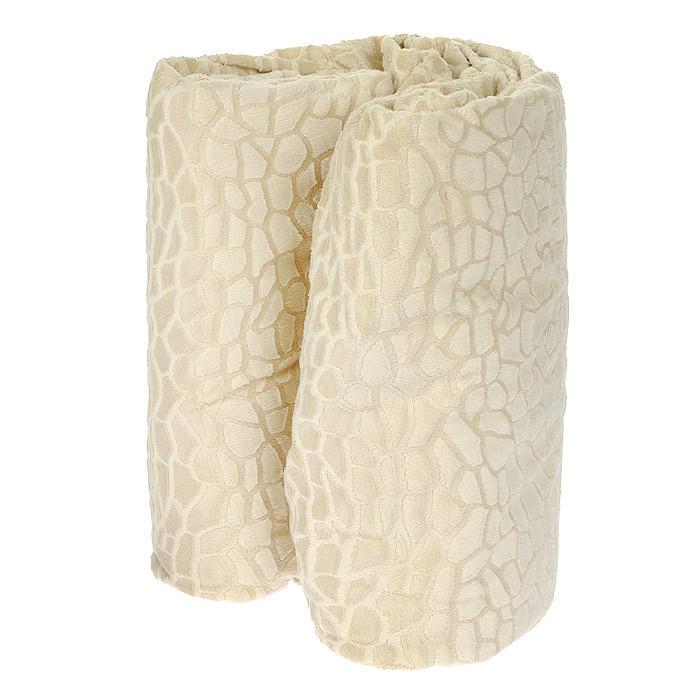 Плед Камни, цвет: бежевый, 100 см х 150 смМП-1/2КПлед Камни, выполненный из полиэстера бежевого цвета, гармонично впишется в интерьер вашего дома и создаст атмосферу уюта и комфорта. Изделие декорировано рельефным узором, имитирующим брусчатку. Удобный, большой размер этого очаровательного пледа позволит вам использовать его и как одеяло, и как покрывало для кресла или софы. Плед упакован в подарочную коробку, обшитую тканью, из которой выполнен плед.