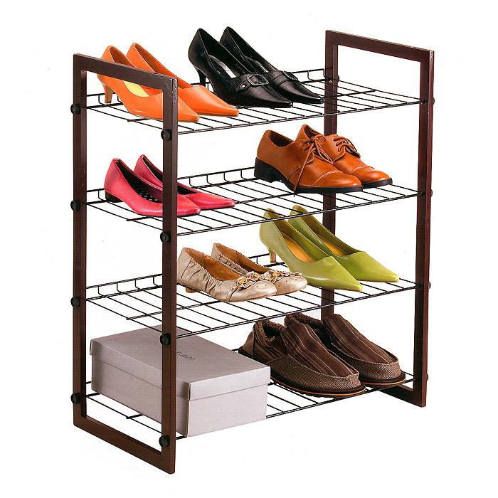Полка для обуви 4-Tier Wood Stackable, 4-яруса11020031-00105Четырехъярусная полка 4-Tier Wood Stackable, изготовленная из натурального дерева, предназначена для хранения обуви. Подставки для обуви выполнены из окрашенного металла. Полка очень удобная и компактная, но в то же время вместительная. Она придется особенно, кстати, если у вас небольшая прихожая: займет минимум пространства. Полка легко собирается и разбирается. Характеристики: Материал: дерево, металл, пластик. Размер полки (ШхДхВ): 63 см х 31 см х 69,5 см. Максимальная нагрузка каждого яруса: 3 кг. Размер упаковки: 70,5 см х 33 см х 7 см. Артикул: 11020031-00101.