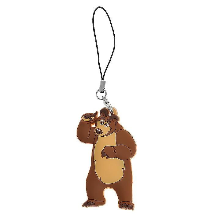 Подвеска для мобильного телефона Маша и медведь Медведь333776Подвеска для мобильного телефона Маша и медведь Медведь позволит вашему ребенку украсить свой телефон, рюкзак или сумку. Подвеска выполнена в виде фигурки Мишки - героя популярного мультсериала Маша и медведь. Подвеска выполнена из прочного, эластичного материала и крепится при помощи небольшого шнурка и металлического карабинчика.