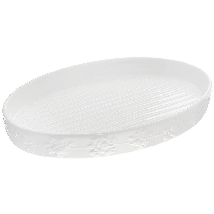 Блюдо для приготовления мяса Стиль Жизни, цвет: белый, 25 х 18 х 2,5 см574-507Блюдо Стиль Жизни выполнено из фарфора с эмалированным глянцевым покрытием белого цвета. Фарфор обеспечивает оптимальное распределение тепла и пригоден для использования в микроволновых печах, морозильных камерах, духовках и для мытья в посудомоечной машине. Рифленое дно позволит сохранить сочность приготовленных мясных блюд. Блюдо для приготовления мяса Стиль Жизни станет отличным подарком для всех любителей домашнего запекания.