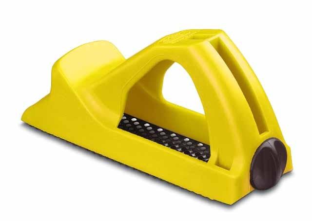 Рашпиль пластиковый Stanley, цвет: желтый, 140 мм5-21-104Пластиковый рашпиль Stanley очень прост в использовании, его ручка имеет эргономичную форму и позволяет работать одной рукой. Инструмент применяется для сглаживания кромок и обработки небольших поверхностей. Рашпиль оснащен рабочим полотном с мелкой насечкой. На корпусе изделия расположен специальный винт, который позволяет производить замену лезвий без использования вспомогательных инструментов.