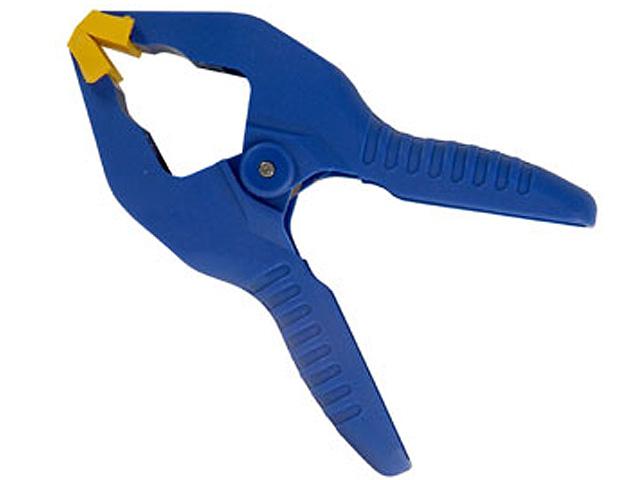 Зажим-прищепка Irwin, до 25 ммT58100EL7Храповой механизм обеспечивает различное давление сжатия. Идеальная струбцина-прищепка для работы в мастерской, дома и в саду. Губки особой конструкции удерживают детали неправильной формы.