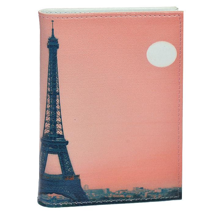 Визитница Perfecto Вечерний Париж, цвет: коралловый. VZ-PR-0036VZ-PR-0036Стильная вертикальная визитница Вечерний Париж, выполненная из натуральной кожи, оформлена изображением Эйфелевой башни. Внутри содержится блок из прозрачного пластика на 36 визиток. Визитница Вечерний Париж - это не только практичная вещь для хранения пластиковых карт, но и модный аксессуар, который понравится каждой девушке.
