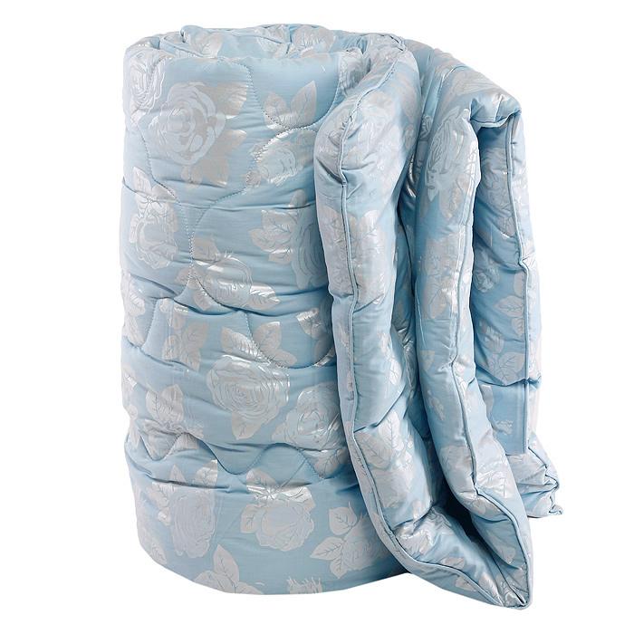 Одеяло Rosalia, 140 см х 205 см, цвет: голубой121031102-РСМягкое и легкое одеяло Rosalia не оставит равнодушными тех, кто ценит красоту и комфорт. Чехол выполнен из сатина с цветочным узором розы, внутри - наполнитель экофайбер. Этот наполнитель очень теплый, гипоаллергенный, не впитывает пыль и запахи. Благодаря ему изделия сохраняют форму и объем долгое время. Одеяло Rosalia согревает зимой и дарит прохладный сон летом. Одеяло упаковано в пластиковую сумку-чехол, закрывающуюся на застежку-молнию. Можно стирать в стиральной машине.