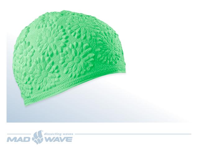 Шапочка для плавания MadWave Hawaii Chrysanthemum, женская, цвет: зеленыйM0517 02 0 10WЛатексная женская шапочка MadWave Hawaii Chrysanthemum с цветочным дизайном. Имеет превосходную эластичность и высокий уровень комфорта. Высококачественный материал обеспечивает долгий срок службы.