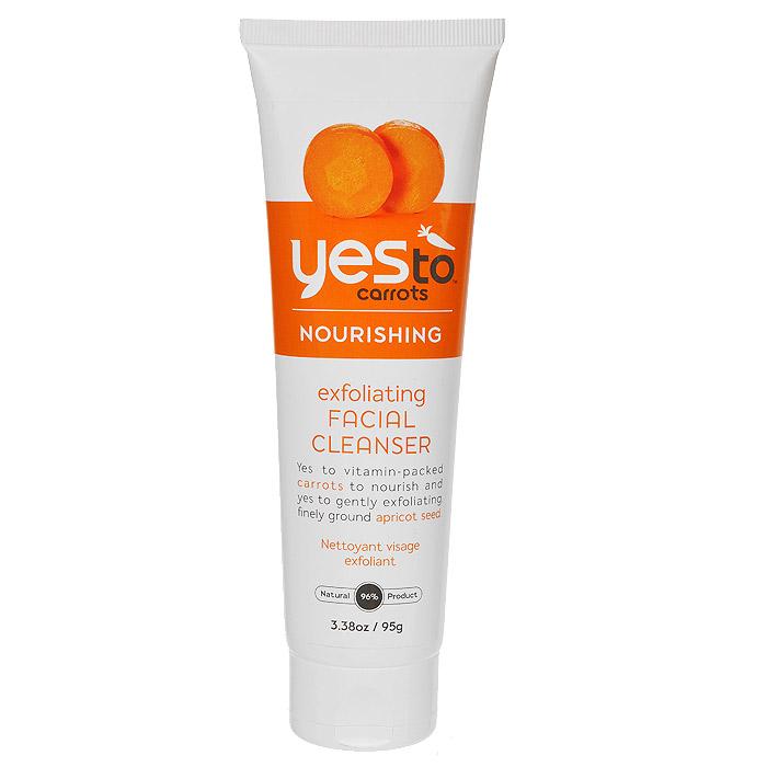 Yes to Питательный и отшелушивающий пилинг для лица Морковный, для нормальной и сухой кожи, 95 г (Yes To)