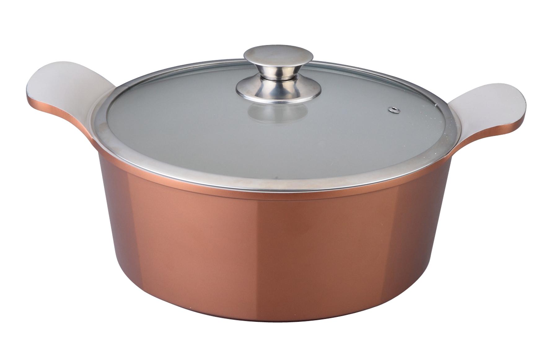 Кастрюля Winner с крышкой, 2,4 л. WR-1408WR-1408Кастрюля Winner выполнена из высококачественного литого алюминия с антипригарным керамическим нанопокрытием Ilag. Посуда с нанопокрытием обладает высокой прочностью, жаро-, износо-, коррозийной стойкостью, химической инертностью. При нагревании до высоких температур не выделяет и не впитывает в себя вредных для человека химических соединений. Нанопокрытие гарантирует быстрый и равномерный нагрев посуды и существенную экономию электроэнергии. Данная технология позволяет исключить деформацию корпуса при частом и длительном использовании посуды. Кастрюля имеет внешнее цветное жаропрочное силиконовое покрытие. Крышка, выполненная из термостойкого стекла, позволит вам следить за процессом приготовления пищи. Крышка плотно прилегает к краю кастрюли, предотвращая проливание жидкости и сохраняя аромат блюд. Изделие подходит для использования на всех типах плит, включая индукционные. Можно мыть в посудомоечной машине. Это идеальный подарок для современных...