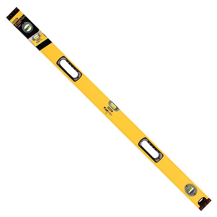 Уровень магнитный Stanley FatMax Level, 3 капсулы, цвет: желтый, 120 см1-43-548Профессиональный строительный уровень Stanley используется при необходимости контроля горизонтальных и вертикальных плоскостей. Усиленный, противоударный, алюминиевый корпус уровня облегчает с ним работу.