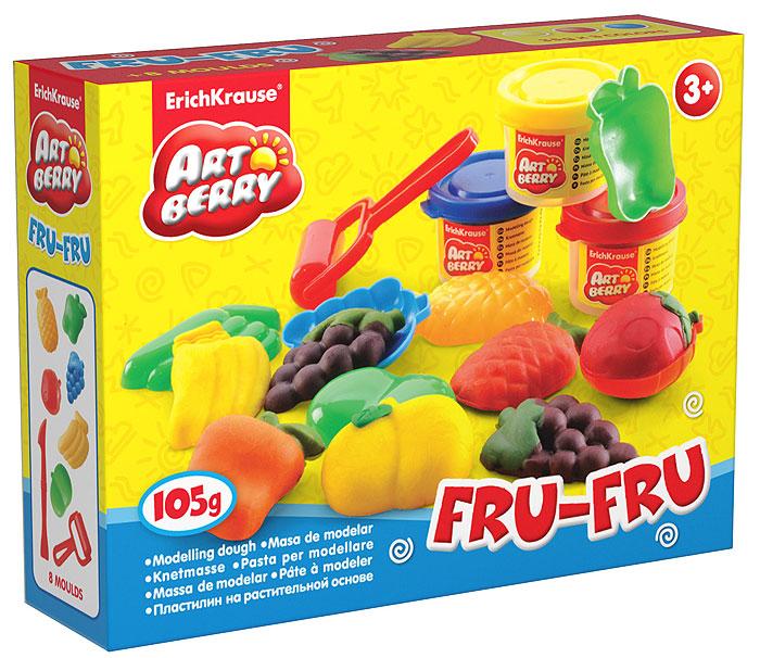 Набор для лепки (на растительной основе) Fru-Fru, 3 цвета30372Пластилин на растительной основе Fru-Fru - увлекательная игрушка, развивающая у ребенка мелкую моторику рук, воображение и творческое мышление. Пластилин легко разминается, не липнет к рукам и рабочей поверхности, не пачкает одежду. Цвета смешиваются между собой, образуя новые оттенки. Пластилин застывает на открытом воздухе через 24 часа. Набор содержит пластилин 3 цветов (желтого, красного, синего), 6 пластиковых формочек в виде различных фруктов, пластиковые ролик и стек. Пластилин каждого цвета хранится в отдельной пластиковой баночке. С пластилином на растительной основе Fru-Fru ваш ребенок будет часами занят игрой.