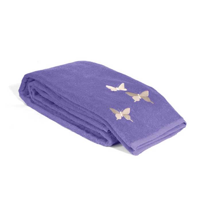 "Tete-a-Tete Classic Полотенце махровое ""Tete-a-Tete"", цвет: фиолетовый, 50 см х 90 см. Т-МП-6200-01-11"