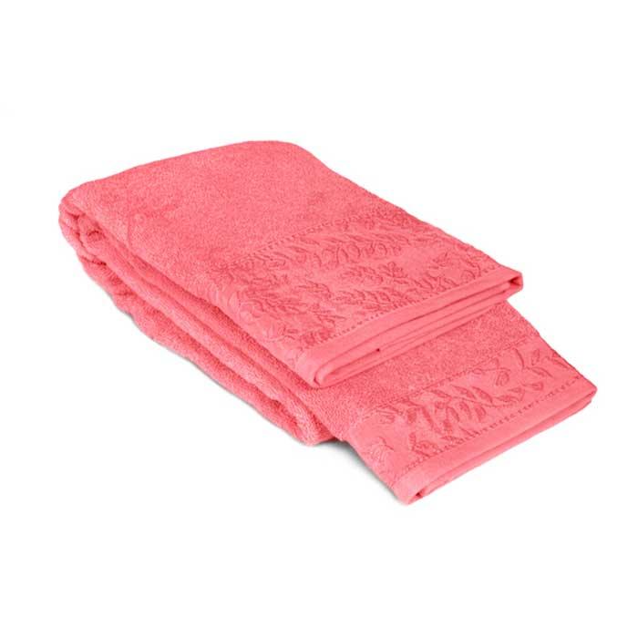 "Tete-a-Tete Classic Полотенце махровое ""Tete-a-Tete"", цвет: розовый, 90 см х 150 см. Т-МП-7185-03-04"