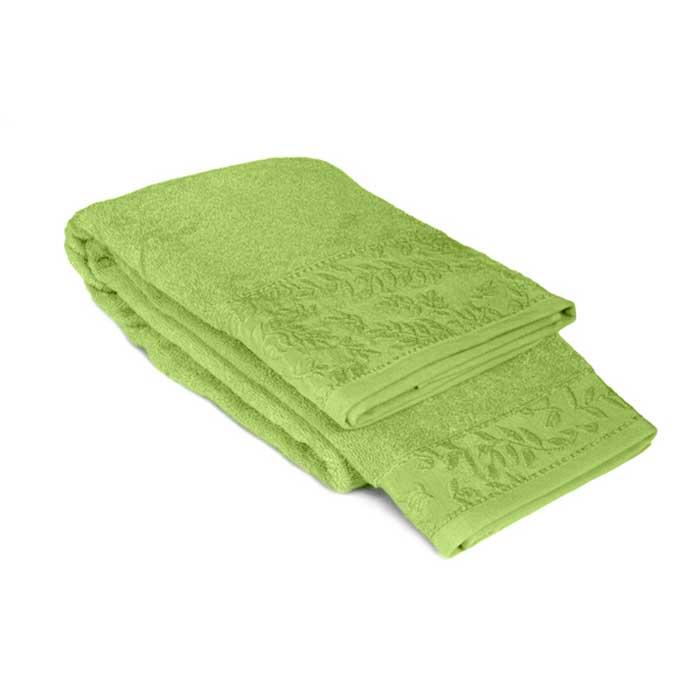 "Tete-a-Tete Classic Полотенце махровое ""Tete-a-Tete"", цвет: зеленый, 90 см х 150 см. Т-МП-7185-03-08"
