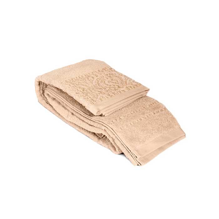 "Tete-a-Tete Classic Полотенце махровое ""Tete-a-Tete"", цвет: бежевый, 90 см х 150 см. Т-МП-6459-03-03"
