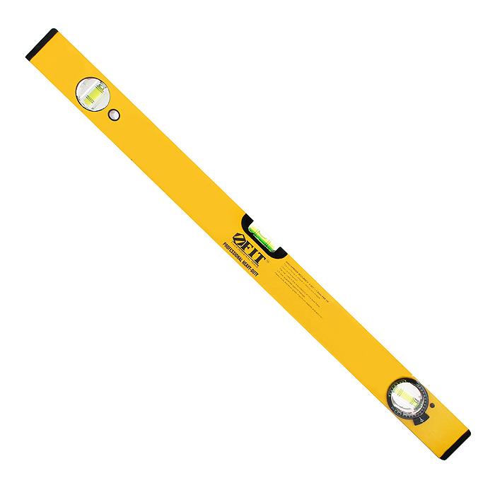 Уровень магнитный усиленный Fit Профи, 2 глазка + 1 глазок поворотный, цвет: желтый, 600 мм18246Уровень магнитный Fit с 3 глазками (2 глазка + 1 поворотный) используется при необходимости контроля горизонтальных и вертикальных плоскостей. Легкий, пластиковый, усиленный корпус уровня облегчает с ним работу. Фрезерованная рабочая грань. Имеется 2 магнита для фиксации на железном покрытии для удобства работы.