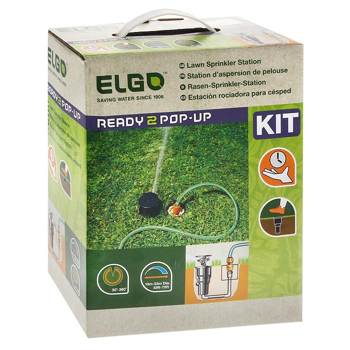 Cистема для полива газонов ElgoCPKСистема для полива газонов содержит в себе: поднимающийся под давлением воды круговой спринклер с металлической пружиной - 1 шт., коннектор для подсоединения трубы к крану - 1 шт., руководство по эксплуатации. Применяется для полива газонов на приусадебных территориях.Система монтируется в ямку глубиной 25 см. Характеристики: Материал: пластик, пвх. Цвет: черный. Размер: 12 см х 22 см х 28 см. Размер упаковки: 12 см х 22 см х 28 см.