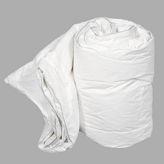 Одеяло Dargez Вилларс легкое, наполнитель: пух, 200 см х 220 см26340ВЛегкое одеяло Dargez Вилларс представляет собой чехол из белоснежного перкаля с наполнителем из белого пуха первой категории. Наполнитель из пуха придает изделию дополнительную упругость и легкость. Особенности одеяла Dargez Вилларс: - натуральное и экологически чистое; - обладает легкостью и уникальными теплозащитными свойствами; - создает оптимальный температурный режим; - обладает высокой гигроскопичностью: хорошо впитывает и испаряет влагу; - имеет высокую воздухопроницаемость: позволяет телу дышать; - обладает мягкостью и объемом. Одеяло вложено в текстильную сумку-чехол зеленого цвета на застежке-молнии, а специальная ручка делает чехол удобным для переноски. Характеристики: Материал чехла: перкаль отбеленный пуходержащий (100% хлопок). Наполнитель: белый пух первой категории. Размер одеяла: 200 см х 220 см. Масса наполнителя: 0,85 кг. Размер упаковки: 60 см х 40 см х 15 см. Артикул:...