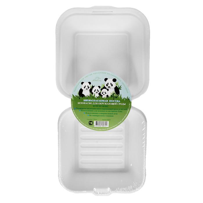 БИО-Бургер-бокс, цвет: белый, 450 мл, 10 штБК16Биоразлагаемая посуда, полученная из сахарного тростника, является экологически чистой и абсолютно безопасной для окружающей среды. Разлагается под воздействием окружающей среды от 40 дней. Используется для холодных и для горячих блюд. Можно использовать в микроволновой печи. Без канцерогенов и токсинов.