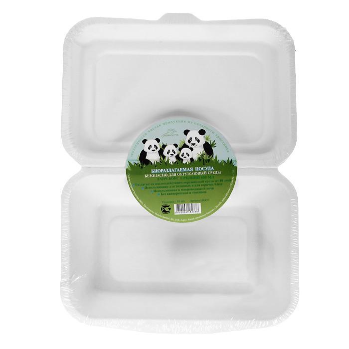 БИО-Ланч-бокс средний, цвет: белый, 600 мл, 10 штК600Биоразлагаемая посуда, полученная из сахарного тростника, является экологически чистой и абсолютно безопасной для окружающей среды. Разлагается под воздействием окружающей среды от 40 дней. Используется для холодных и для горячих блюд. Можно использовать в микроволновой печи. Без канцерогенов и токсинов.