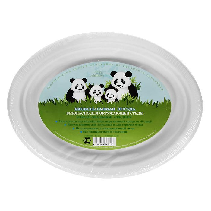 Набор овальных био-блюд Greenmaster, цвет: белый, 26 см х 20 см, 10 штБС26Набор Greenmaster состоит из 10 овальных био-блюд. Биоразлагаемая посуда, полученная из сахарного тростника, является экологически чистой и абсолютно безопасной для окружающей среды. Разлагается под воздействием окружающей среды от 40 дней. Используется для холодных и для горячих блюд. Можно использовать в микроволновой печи. Без канцерогенов и токсинов. Материал: сахарный тростник 100%. Размер блюда: 26 см х 20 см х 2 см. Комплектация: 10 штук.