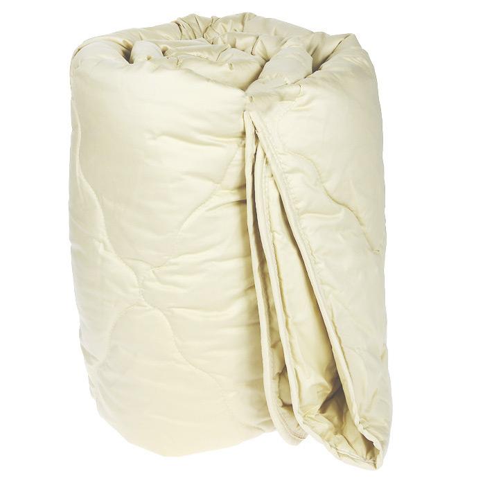 Одеяло Dargez Валетта, наполнитель: верблюжья шерсть, 200 х 220 см261930Одеяло Dargez Валетта представляет собой стеганый чехол из золотисто-бронзового сатина с наполнителем из верблюжьей шерсти. Верблюжья шерсть собирается с верблюдов один раз в пять лет, что во многом определяет ее ценность. Повышенная легкость, мягкость, шелковистость, антистатичность, исключительные термостатические свойства, способствующие созданию комфортного микроклимата во время сна - основные отличительные особенности верблюжьей шерсти. Одеяло вложено в текстильную сумку-чехол зеленого цвета на застежке-молнии, а специальная ручка делает чехол удобным для переноски. Характеристики: Материал чехла: сатин (100% хлопок). Наполнитель: верблюжья шерсть. Размер одеяла: 200 см х 220 см. Масса наполнителя: 300 г/кв.м. Размер упаковки: 60 см х 47 см х 26 см. Артикул: 261930. Торговый Дом Даргез был образован в 1991 году на базе нескольких компаний, занимавшихся производством и продажей постельных принадлежностей и поставками за...