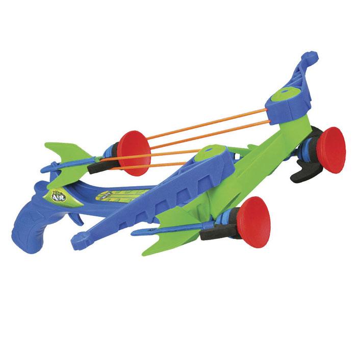 Арбалет ZX-Crossbow, со стрелами, цвет: синий, зеленыйZG577Арбалет ZX-Crossbow позволит вашему ребенку почувствовать себя во всеоружии! Он выполнен из прочного яркого пластика синего и зеленого цветов и оснащен двумя резинками для запуска стрел. Арбалет снабжен предохранителем от случайного выстрела. В заряженном состоянии оружие готово к выстрелу в любую секунду. Комплект включает в себя три стрелы с присосками. Игра с таким арбалетом поможет ребенку в развитии меткости, ловкости, координации движений и сноровки.