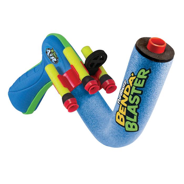 """Гибкий бластер Zing """"Benda Blaster"""", цвет: голубой, салатовый, с патронами"""