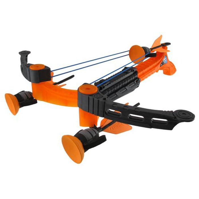 Арбалет Zing Ztek-Crossbow: Воздушный шторм, цвет: оранжевый, со стреламиAS957Арбалет Zing Ztek-Crossbow: Воздушный шторм позволит вашему ребенку почувствовать себя во всеоружии! Самый мощный арбалет линейки Zing выполнен из прочного яркого пластика и оснащен двумя резинками для запуска стрел. Также он снабжен предохранителем от случайного выстрела и механизмом Booster, увеличивающим мощность выстрела в 2 раза. В заряженном состоянии оружие готово к выстрелу в любую секунду. Комплект включает в себя три стрелы с присосками. Игра с таким арбалетом поможет ребенку в развитии меткости, ловкости, координации движений и сноровки.