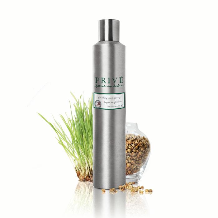 Prive Спрей для финишной укладки волос, 300 млPRV4912804Экстракт герани, лемонграсса и смесь трав придают волосам эластичную, продолжительную фиксацию и блеск. Защищает цвет окрашенных волос. Идеальный продукт для ежедневой работы в салоне и частой укладки волос дома.