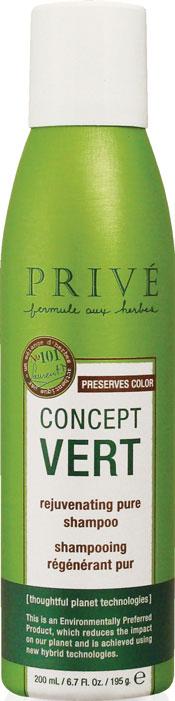 Prive Шампунь для волос Concept Vert, восстанавливающий, очищающий, 200 млPRV4920040Уникальный экстракт ягод асаи, масло бабассу из тропических лесов Амазонии и смесь трав обеспечивают интенсивное восстановление, благодаря большой концентрации антиоксидантов и укрепляющих компонентов в них. Шампунь Prive Concept Vert делает волосы здоровыми и блестящими. Защищает цвет окрашенных волос. Запатентованная воздушная технология позволяет в 2 раза увеличить количество продукта в упаковке. Шампунь Prive Concept Vert содержит органические компоненты (экстракты ягод асаи, бурых водорослей, гвоздики и ромашки), в нем отсутствуют вредные для организма синтетические компоненты - сульфаты, парабены, фталаты, глютен, минеральные масла, парафины, PABA, DEA, TEA, искусственные красители. Характеристики: Объем: 200 мл. Артикул: PRV4920040. Производитель: США. Товар сертифицирован.
