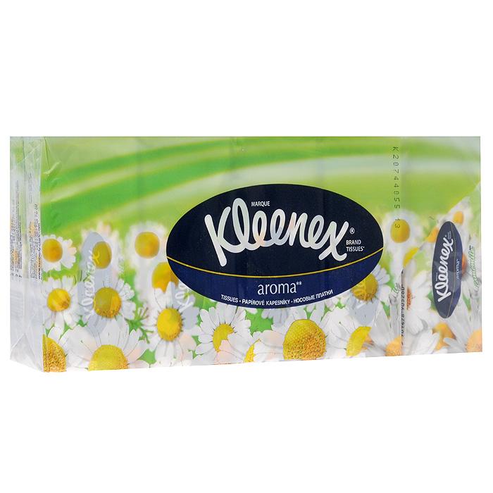 """Kleenex Бумажные платочки """"Ромашка"""", ароматизированные, 10х10 шт"""