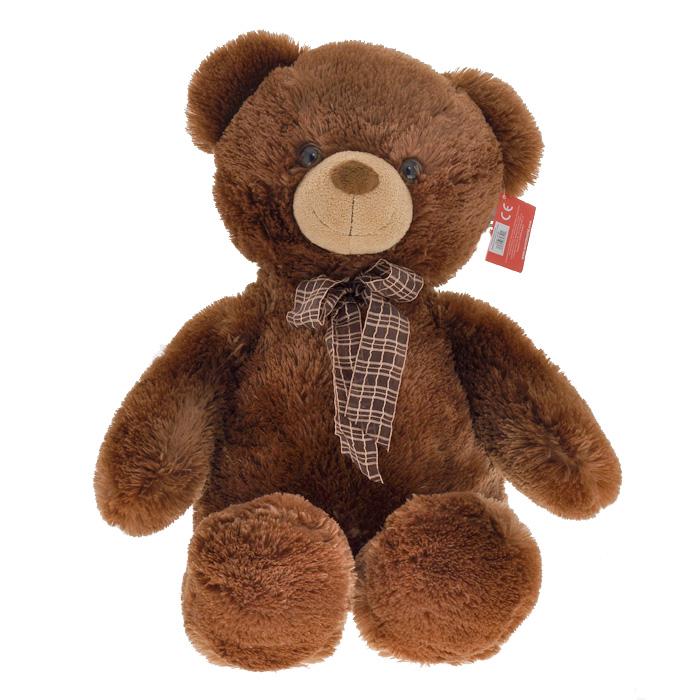Мягкая игрушка Aurora Медведь, с бантом, цвет: коричневый, 69 см30-349Очаровательная мягкая игрушка Медведь, выполненная в виде медвежонка коричневого цвета с коричневым бантиком на шее, вызовет умиление и улыбку у каждого, кто ее увидит. Удивительно мягкая игрушка принесет радость и подарит своему обладателю мгновения нежных объятий и приятных воспоминаний. Она выполнена из мягкого плюша с набивкой из гипоаллергенного синтепона. Великолепное качество исполнения делают эту игрушку чудесным подарком к любому празднику.