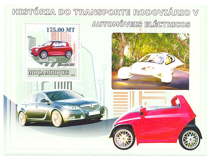 Почтовый блок № 5 из серии История транспорта. Мозамбик. 2009 годL2070 EПочтовый блок № 5 из серии История транспорта. Мозамбик. 2009 год. Размер марок 4 х 3,8 см. Размер блока 14,2 х 10,3 см. Сохранность хорошая.
